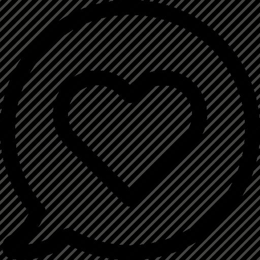bubble, chat, communication, love, message, romance, talk icon