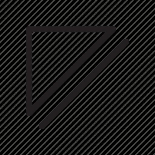 corner, direction, eject, media, northwest, top-left, up-left icon