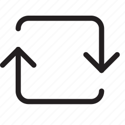 clockwise, loop, media, repeat, rotate, sync, update icon