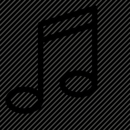 audio, media, multimedia, music, note, sound, tune icon