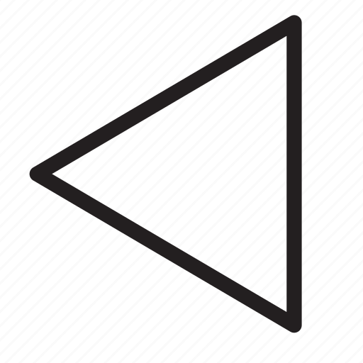 back, left, media, multimedia, previous, reverse, rewind icon