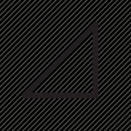 bottom-right, corner, direction, down-right, orientation, southeast, triangle icon