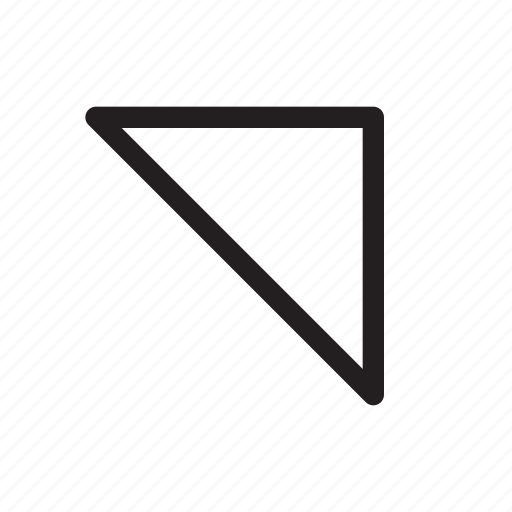corner, diagonal, direction, northeast, top-right, triangle, up-right icon