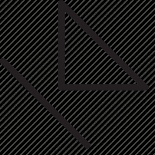 bottom-left, corner, direction, down-left, orientation, skip, southwest icon