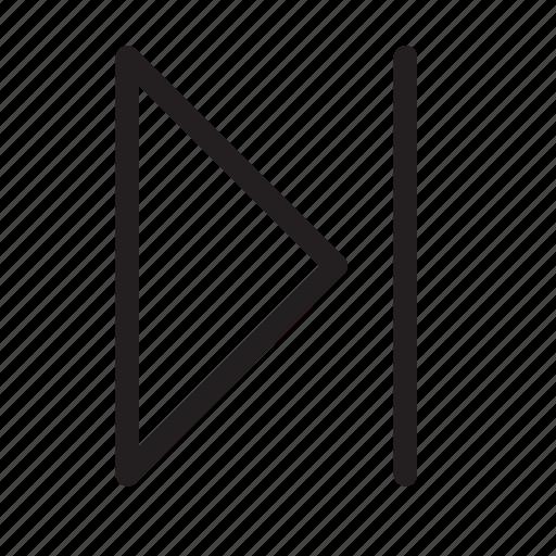 chapter, forward, media, multimedia, next, player, skip icon