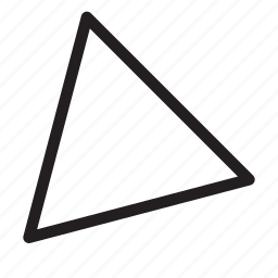 bottom-left, corner, direction, down-left, orientation, southwest, triangle icon