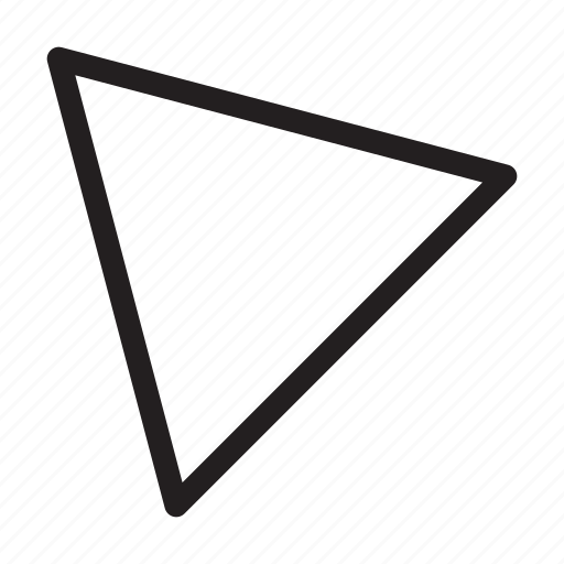 corner, direction, northwest, orientation, top-left, triangle, up-left icon
