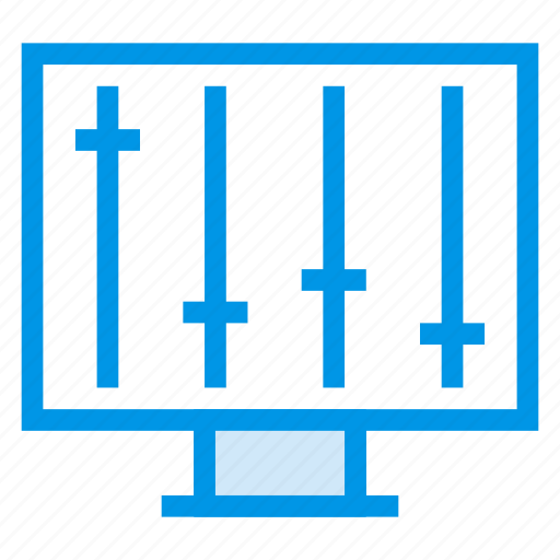 analytics, control, data, graph, magnifier, monitoring, system icon