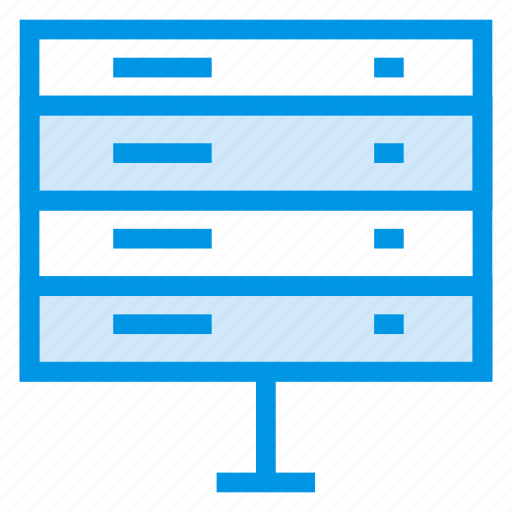 computer, connected, connection, data, server, storage, web icon