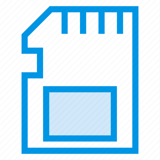 card, data, device, memory, sd, storage, tecknology icon