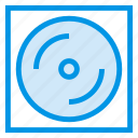 cd, disk, dj, dvd, music, reader, storage icon