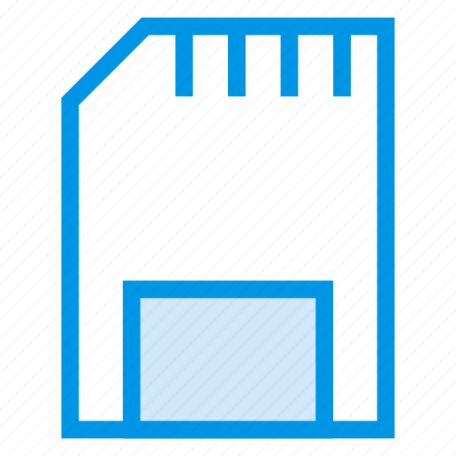 adapter, data, device, memory, micro, sd, storage icon