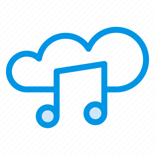 audio, cloud, cloudmedia, computing, media, music, sound icon