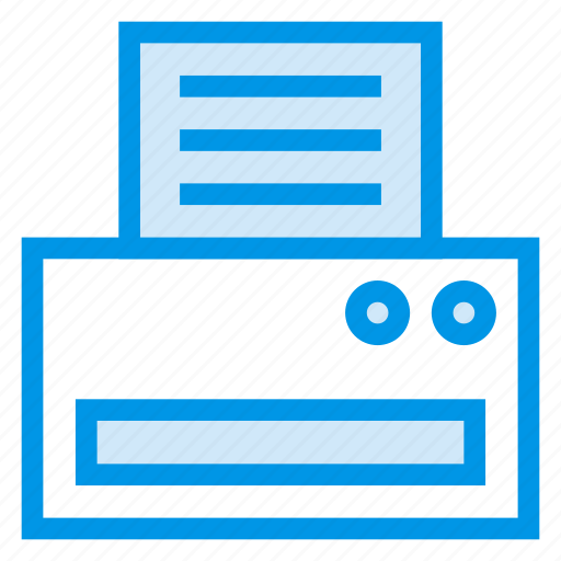 business, computer, fax, papper, print, printer, printing icon