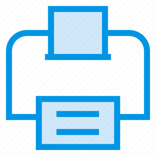 computer, fax, machine, office, papper, printer, printing icon