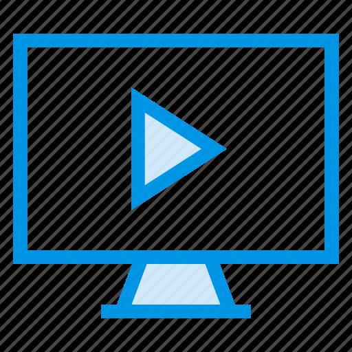 computer, desktop, device, display, monitor, screen, tv icon
