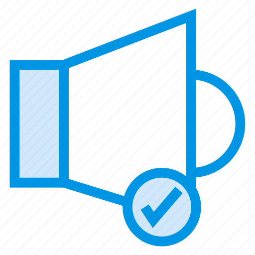 audio, check, music, musical, sound, speaker, studio icon