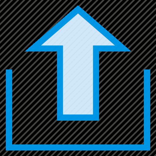 arrow, computing, data, multimedia, storage, upload, uploading icon