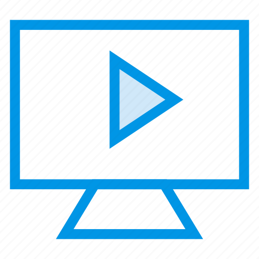 display, entertainment, movie, sound, television, tv, watching icon