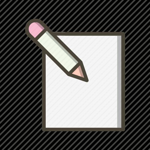 edit, paper, write icon