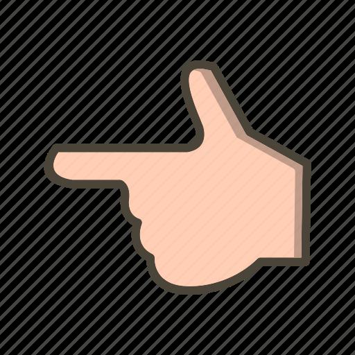 finger, gesture, hand icon