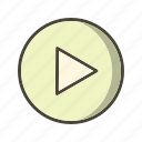 audio, multimedia, music player, play icon