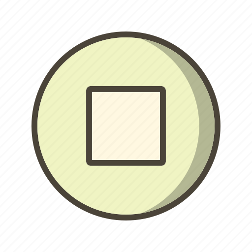 multimedia, music player, stop icon