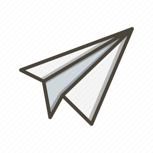 Airplane, paper plane, plane icon - Download on Iconfinder