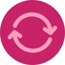 button, flat, multimedia, refresh, reload, repeat, rotate, rotation, round icon