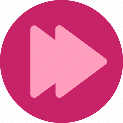 flat, forward, multimedia, music, play, round, skip icon