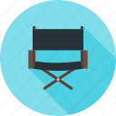 chair, direction, director's chair, equipment, film making, recording icon