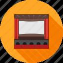 audience, auditorium, cinema, movie, people, screen, theater icon