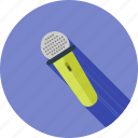 communication, microphone, music, performance, studio, wire icon