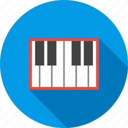instrument, keyboard, music, piano, play, rhythm, sound icon