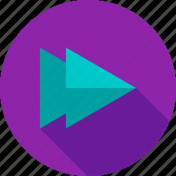 control, dvd, fast, forward, music, sign, sound icon