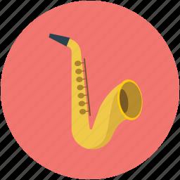 band, bugle, cornet, horn, music instruments, saxophone, trumpet icon