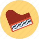 fortepiano, grand piano, instruments, multimedia, musical instruments, piano, piano keyboard, pianoforte icon