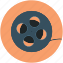 audiovisual, camera reel, film reel, movie reel, multimedia, reel, sound icon