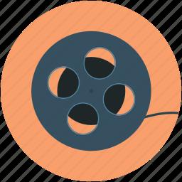 audiovisual, camera reel, film reel, movie reel, multimedia, reel, sound icon