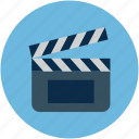 clapboard, clapper, clapper board, film, filmmaking board, multimedia, shooting clapper icon