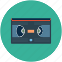 analog cassette, cassette, film, magnetic tape, movie, video cassette, videotape icon
