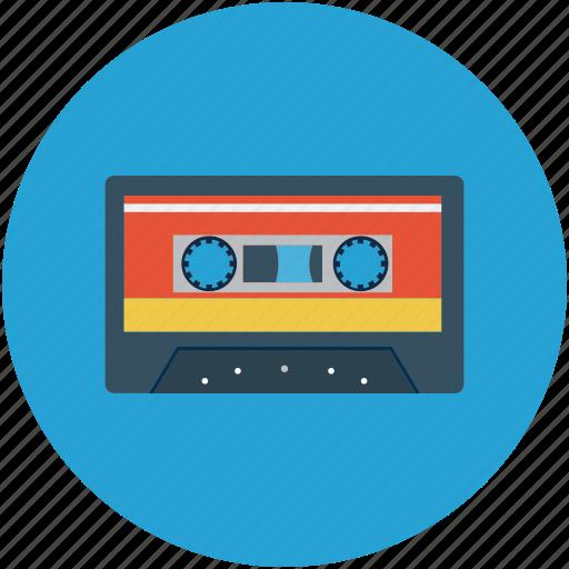 audio cassette, cassette tape, compact cassette, musicassette, tape cassette icon