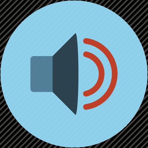 high, loud, multimedia, music, on, radio, sound, volume icon