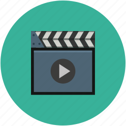 clapperboard, movies, multimedia, music, musique, video control, video player icon