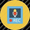 call recording, music record, recording, turntable, voice recording icon