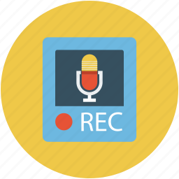 call recording, music record, recording, turntable, voice recording icon