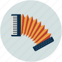 accordion, concertina, entertainment, harmonica hand, multimedia, music, piano accordion icon