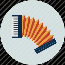 accordion, concertina, entertainment, harmonica hand, multimedia, music, piano accordion icon