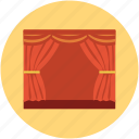cinema, cinema curtain, cinema hall, curtain, film, movie, movie theater, video icon
