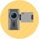 camcorder, camera, handycam, movie camera, video camera, video maker icon
